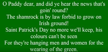 Wearing of the Green Lyrics