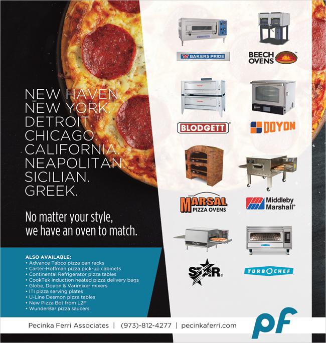 Pecinka Ferri Pizza eauipment offerings